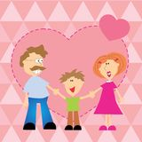 Familjhjärta Arkivbilder