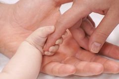 Familjholdinghänder Arkivfoto