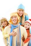 familjhuvud arkivbilder