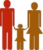 Familjlogo royaltyfri illustrationer