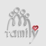 Familjlogo Arkivbild