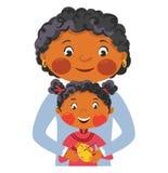 Familjmålarfärgägg för påsk Arkivbild