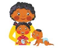 Familjmålarfärgägg för påsk Royaltyfria Foton