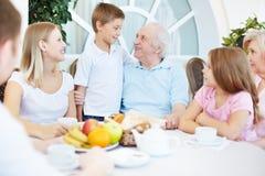 Familjmatställe Fotografering för Bildbyråer