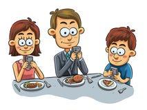 Familjmatställe vektor illustrationer