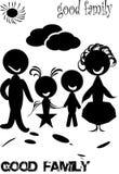Familjmodell Arkivfoton