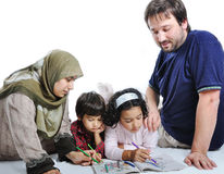 familjmuslim Royaltyfri Fotografi