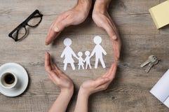 Familjomsorg arkivfoton