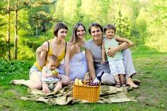 familjpicknick Royaltyfri Foto