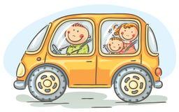 Familjresande med bilen Royaltyfri Bild