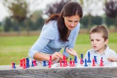 Familjschack Arkivbilder