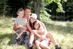 familjsemester Fotografering för Bildbyråer