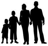 familjsilhouettevektor royaltyfri illustrationer