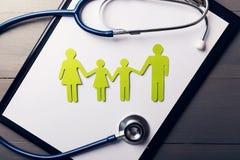 Familjsjukvård och säkerhet royaltyfri fotografi