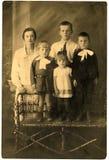familjståendewintage arkivfoton