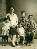 familjståendewintage Arkivfoto