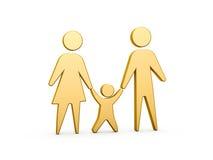 familjsymbol Royaltyfri Fotografi