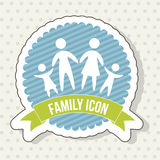 Familjsymbol royaltyfri illustrationer
