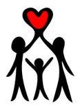 familjsymbol Arkivfoton