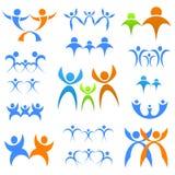 familjsymboler royaltyfri illustrationer