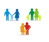 familjsymbolsdesign Arkivfoto