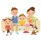 Familjuppehälle Royaltyfri Bild