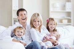 familjutgångspunkt Royaltyfria Foton