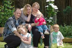 familjutvecklingsouting Royaltyfri Foto