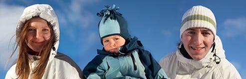 familjvinter Fotografering för Bildbyråer