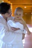 familjwellness Royaltyfri Bild