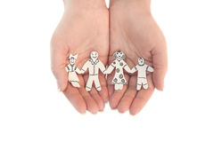 Famille à chaînes de papier protégée Images stock