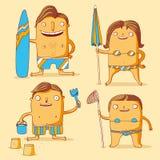 Famille à la plage Illustration Stock