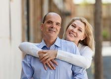Famille âgée au voyage de vacances Photo libre de droits
