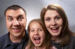 Famille étonné Photographie stock libre de droits