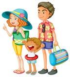 Famille illustration stock