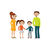 Famille. A family : parents with two children, a son and a daughter Royalty Free Stock Images
