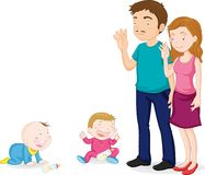 famille illustration stock