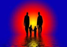 Famille abstrait   Photos libres de droits