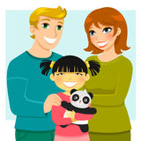 famille adoptive Images stock