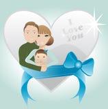 Famille affectueuse Illustration de Vecteur
