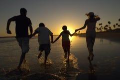 Famille appréciant sur la plage photographie stock libre de droits