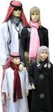Famille arabe de mannequin Image stock