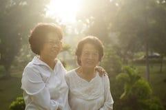 Famille asiatique d'aînés Photos stock
