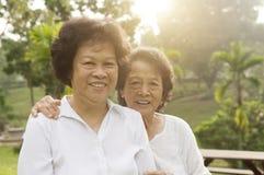 Famille asiatique d'aînés ayant le bon temps Photos libres de droits