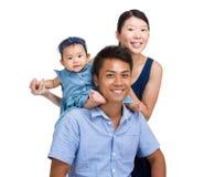 Famille asiatique heureuse photo libre de droits