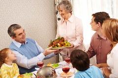 Famille au dîner photo libre de droits