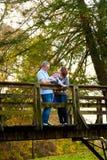 Famille au parc Image libre de droits