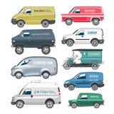 Famille automatique de véhicule de cargaison de la livraison de monospace de vecteur de Van car Photographie stock