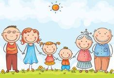 Famille avec deux enfants Photos stock