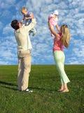 Famille avec deux enfants Image stock